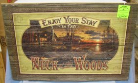 Painted Wooden Sign