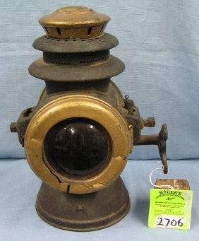 Antique Horse Drawn Carriage Oil Lamp