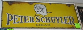 Advertising Sign For Peter Schuyler Cigars