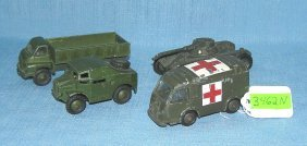 Group Of 4 Early Dinky Military Toys