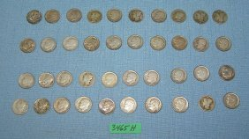 Group Of All Silver Us Dimes