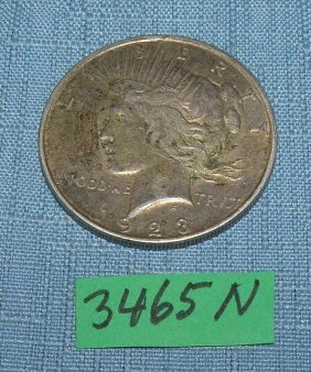 1923d Liberty Silver Dollar Coin