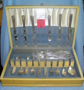 Box Full Of Silver Plate Flatware