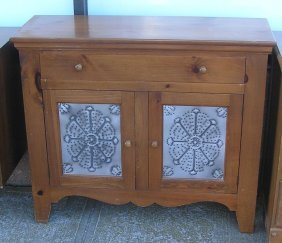 Vintage Style Pie Safe Type Chest