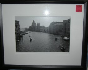 Large Matted And Framed Print Of Venice
