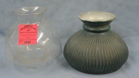 Pair Of Vintage Glass Lamp Globes