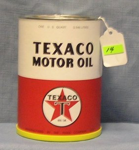 Vintage Style Reproduction Texaco Motor Oil Can