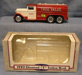 Vintage True Value Cast Metal Truck Bank