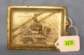 Early Aerial Tramway Of New Hampshire Tray