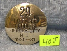 Early Nj Peddler's License