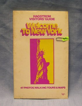 Vintage Welcome To Ny Visitor Guide Book