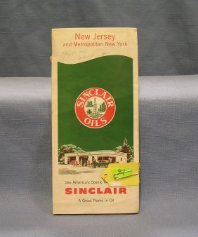 Vintage Sinclair Gas Advertising Road Map