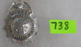 Vintage Inter Chem. Fire Brigade Miniature Badge