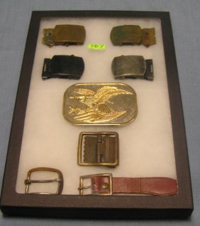 Collection Of Vintage Belt Buckles