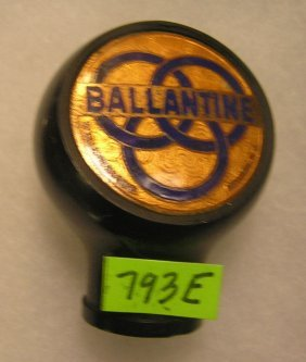 Early Ballentine Beer Bakelite Beer Tap Handle