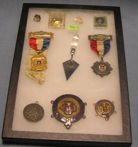 Collection Of Masonic And Lodge Collectibles