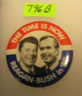Vintage Reagan/bush Campaign Button