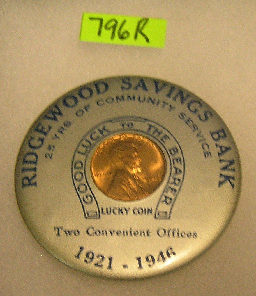 Early Ridgewood bank advertising mirror