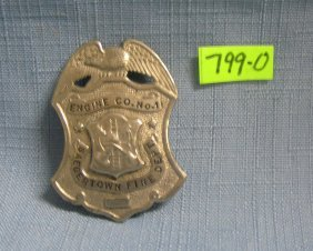 Ant. Saegertown Fire Dept Engine Co. #1 Badge