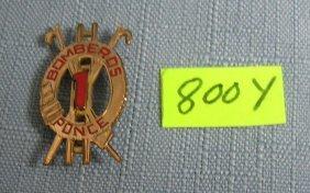 Antique 10 Krt Gold Hook And Ladder Pin