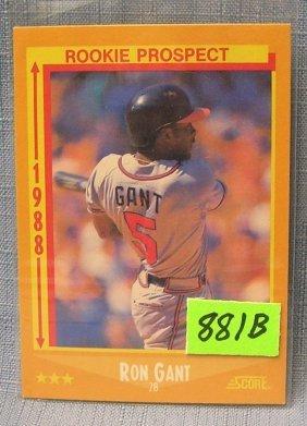 Vintage Ron Gant Rookie Baseball Card