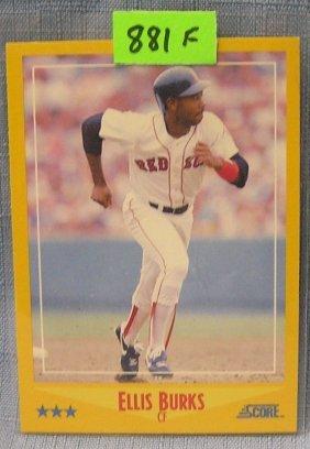 Vintage Ellis Burks Rookie Baseball Card