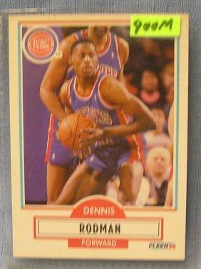 Vintage Dennis Rodman Basketball Card