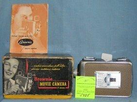 Vintage Kodak Brownie 8mm Movie Camera With Box