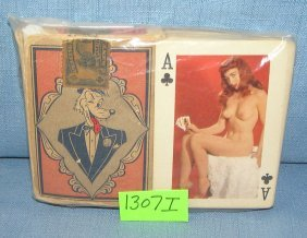 Set Of 1950's Erotica Playing Cards