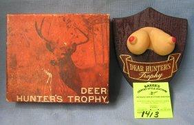 Vintage Erotica Deer Hunter's Trophy