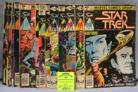 Group Of Vintage Marvel Star Trek Comic Books