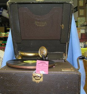 Antique Brunswick Portable Phonograph