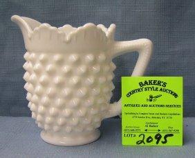 Vintage Milk Glass Hobnailed Patterned Creamer