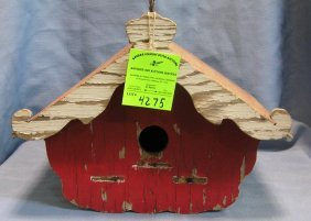 Antique Hand Painted Birdhouse