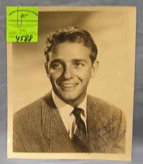 Early Autographed Photo Of Richard Crenna