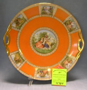 Early Victorian Decorated Serving Platter