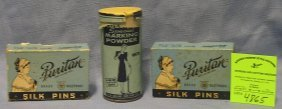 Group Of Antique Advertising Containers
