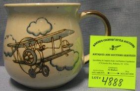 Vintage Aviation Themed Shaving Mug
