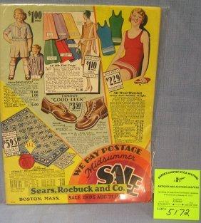Original Sears Roebuck And Company Sales Catalog