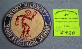 Rare Reddy Kilowatt Employee Iron On Patch