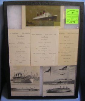Queen Mary Photo Post Card And Menu