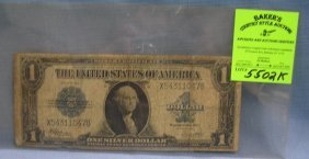 Early Oversized Silver Certificate Us Note Dated 1923