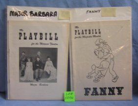 Pair Of Early Playbills