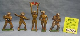 Group Of Vintage Military Toy Soldiers