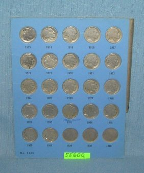 Early Buffalo Nickel Collection 1913 To 1937