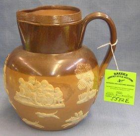 Antique Royal Dalton Stoneware Pitcher
