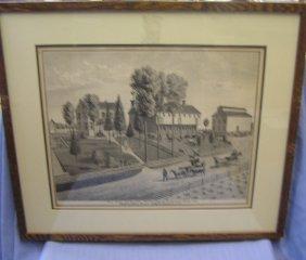 19th Century Lancaster County Print