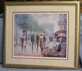 Rene Morse Large Artist Signed And Dated Lithograph