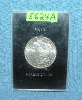 Morgan Silver Dollar 1881s