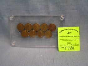 Group Of Early Lincoln Wheat Back Pennies